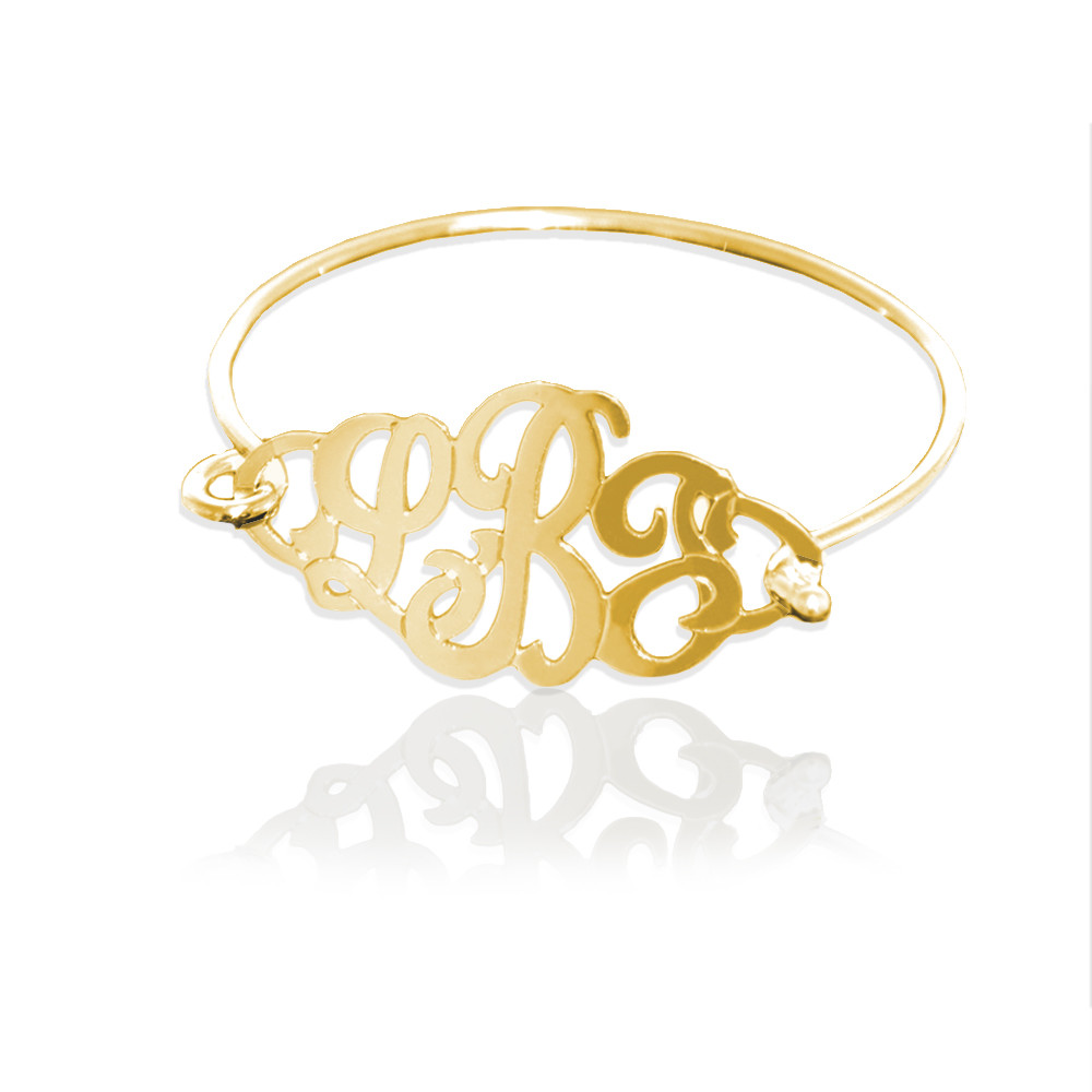 JBD340 Large Monogram Bangle