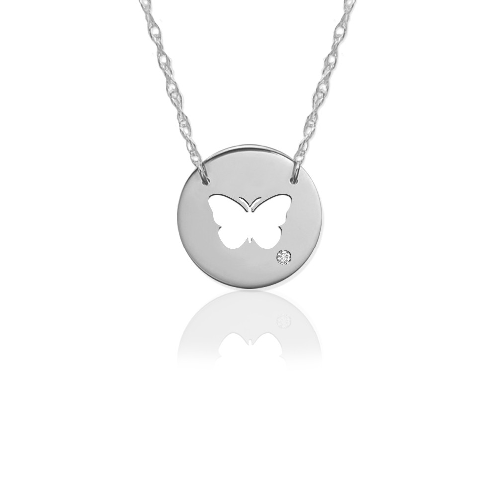 "1/2"" Butterfly Disc Icon w Diamond Accent"