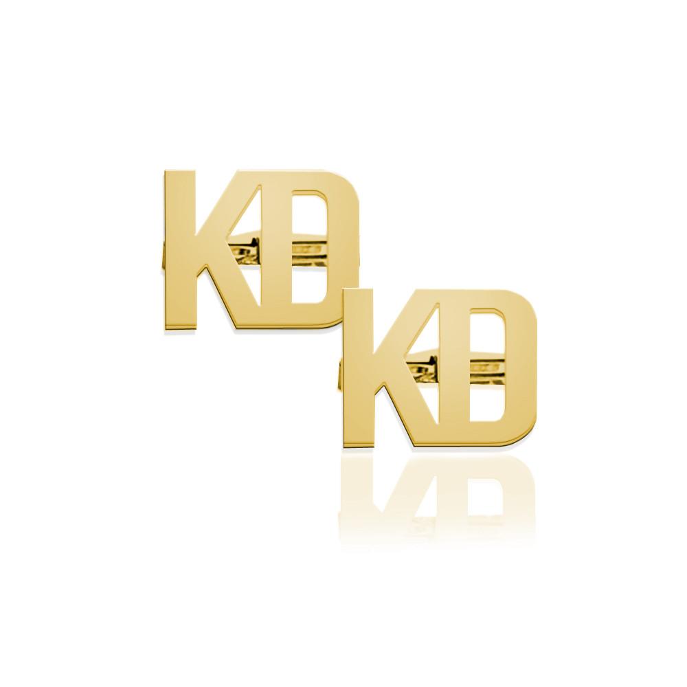 2 Letter Block Monogram Cufflinks