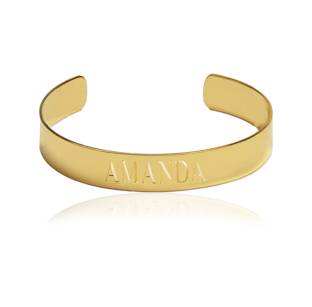 Engraved Name Cuff Bracelet