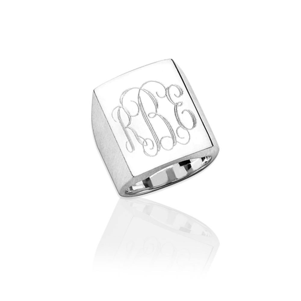 Large Rectangle Men's Ring
