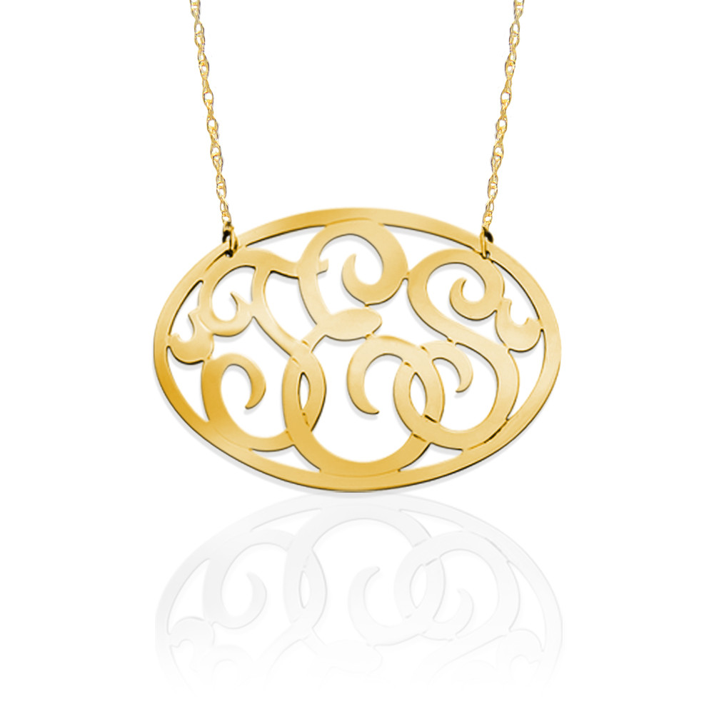 Oval Monogram Necklace