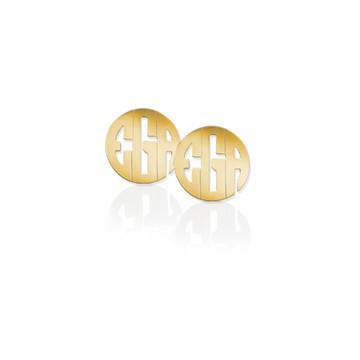 Small Block Monogram Earrings
