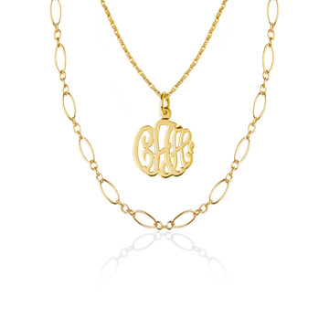 Monogram and CZ or Links