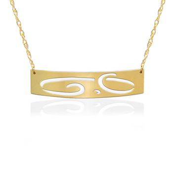Large Initial ID Necklace