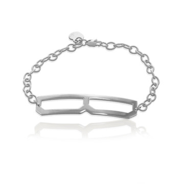 JBD298 Long & Lean Block Initial Bracelet