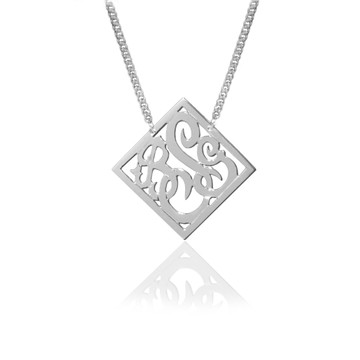 JBD316 Diamond Shaped Script Monogram