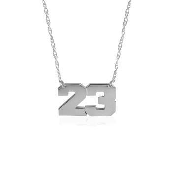 JBD424 Varsity Number Pendant
