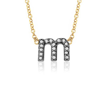 Petite 14K Gold & Diamond Lower Case Initial