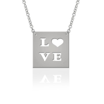 """""""Just Say It"""" Square Pendant"""