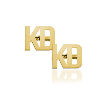 2 Letter Block Monogram Cufflinks