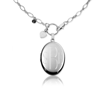.925 Sterling Sterling Silver with Block Lettering