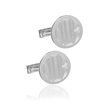 "3/4"" Engraved Block Monogram Cuff Links"