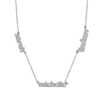 Triple Nameplate Necklace