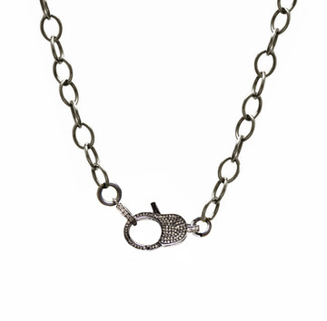 Pavé Diamond Lock & Cable Link Chain