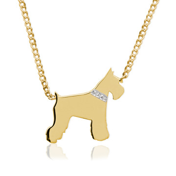 My Dog Necklace with Diamond Accent Collar