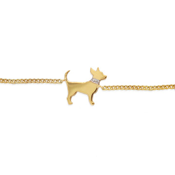 My Dog Bracelet with Diamond Collar Accent