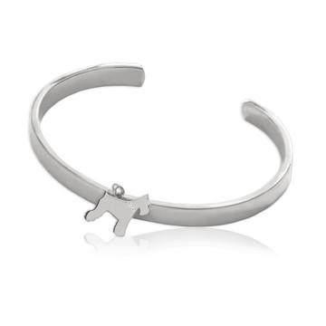 My Dog Cuff Bracelet with Diamond Collar Accent