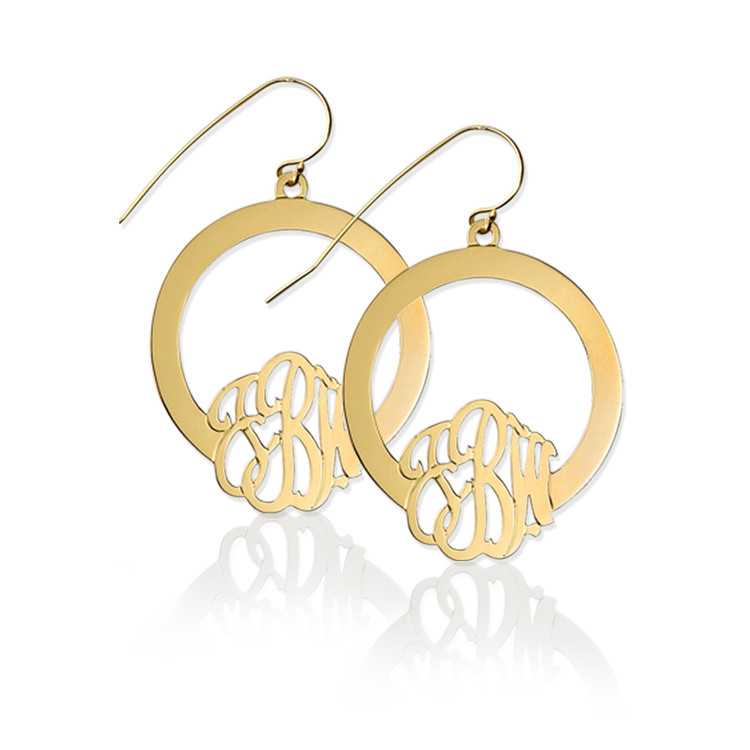 Hoop Earring with Monogram
