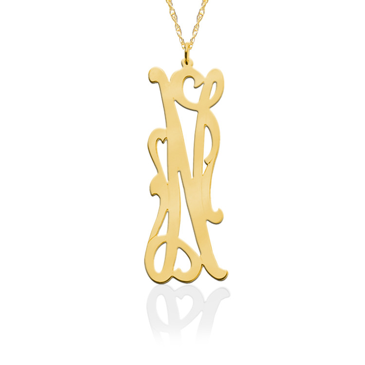 Long Initial Necklace