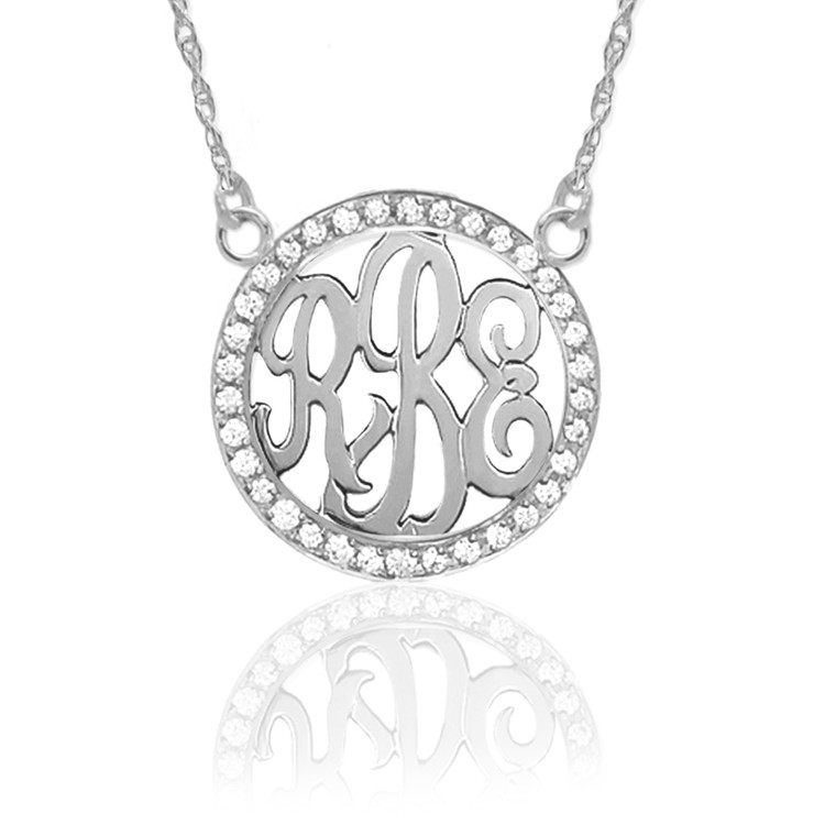 Sterling Silver & Diamond Monogram