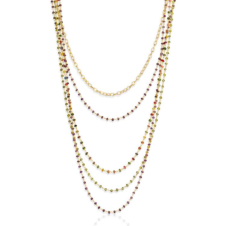 Multi-Color Multi-Strand Necklace