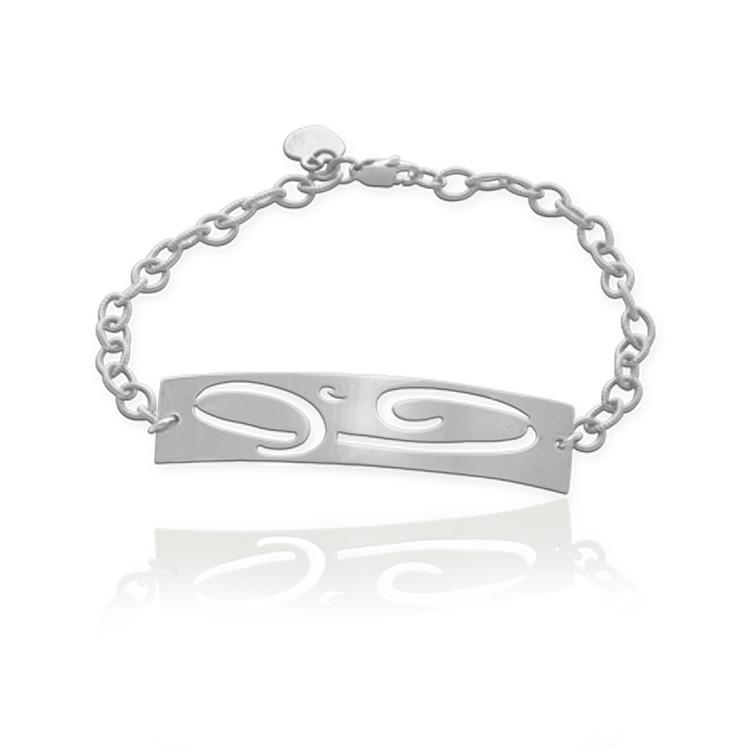 Large Initial ID Bracelet