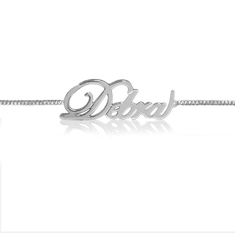 JBD348 Fancy Script Name Bracelet