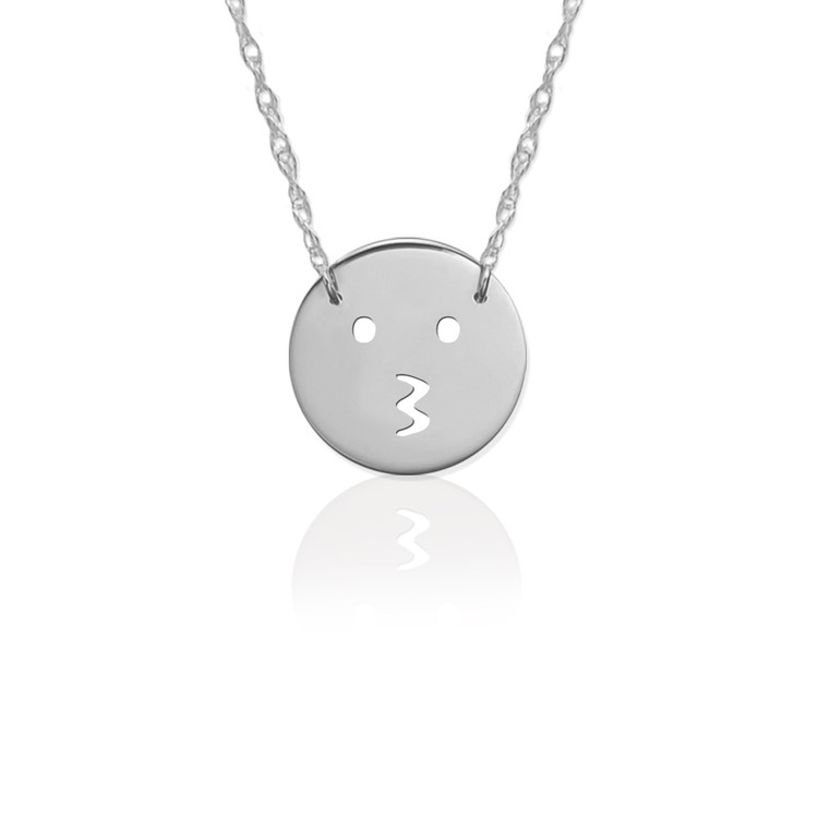 JBD361 Kiss Emoji in Sterling Silver