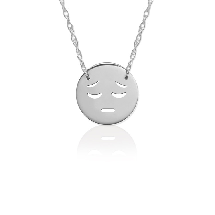 JBD363 Sad Emoji in Sterling Silver