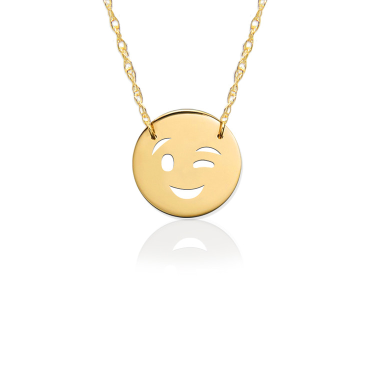 JBD377 Wink Emoji in Sterling Silver