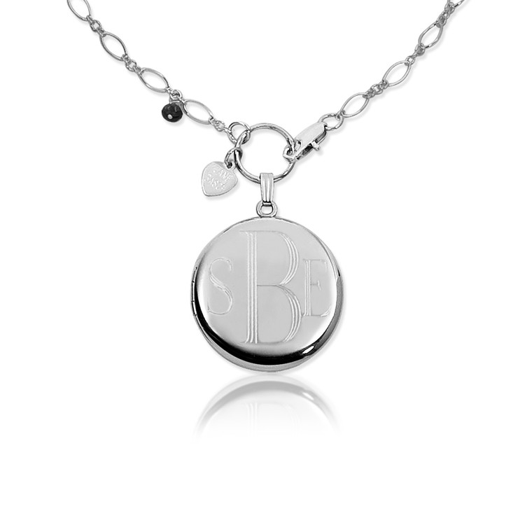 .925 Sterling Silver with Block Lettering