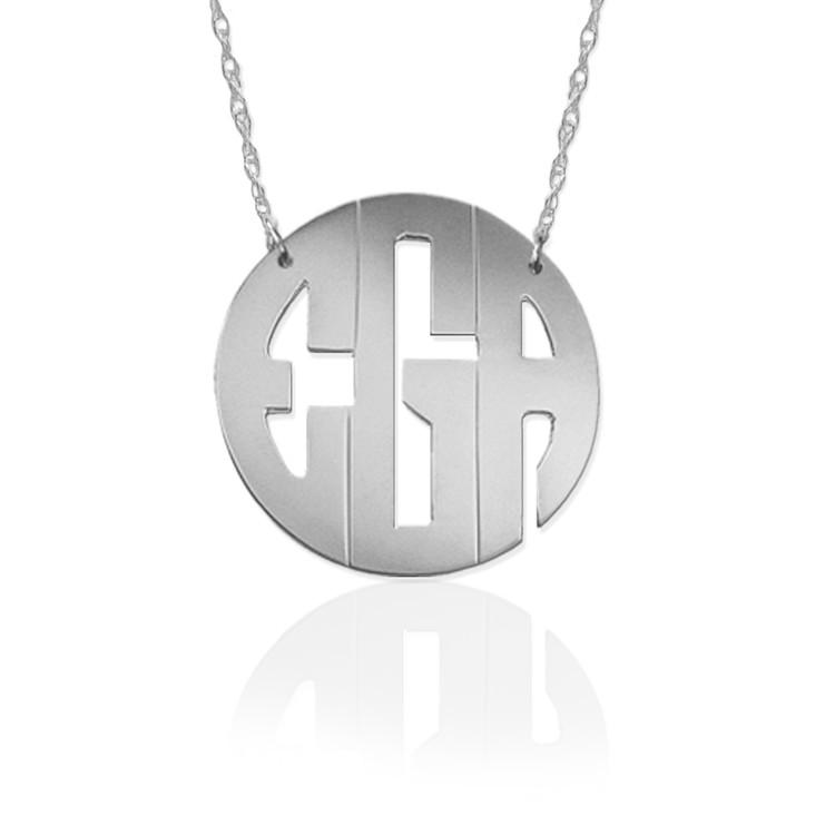 Block Monogram Necklace