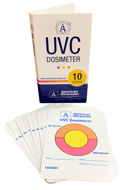 10-Pack UVC-TAB Photochromic UVC Measurement Cards (General Use)