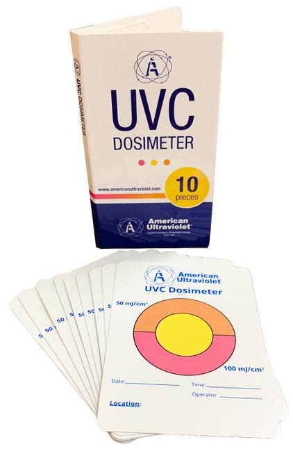 10-Pack UVC-TAB Photochromic UVC Measurement Cards (General Use)
