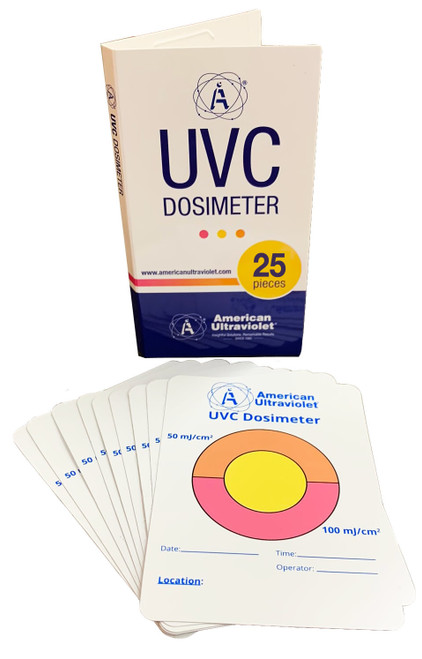 25-Pack UVC-TAB Photochromic UVC Measurement Cards (General Solutions)
