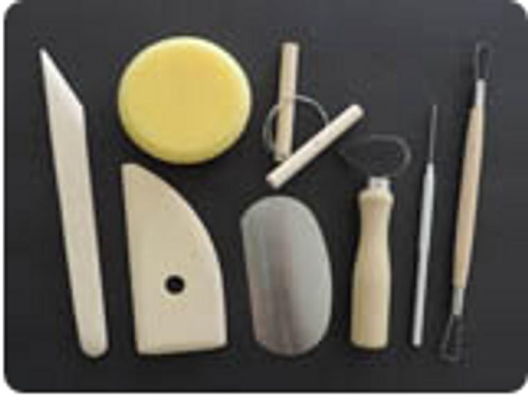 Starter tool kit for pottery.