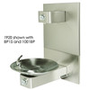 Haws 1920 Bottle Filler, Wall Mounted, Stainless Steel, Push Button, Non-Refrigerated