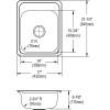 "Elkay CR1721 Celebrity Stainless Steel, 17"" x 21-1/4"" x 6-7/8"", Single Bowl Top Mount Sink"