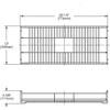 "Elkay CTXBG3113R Dart Canyon Stainless Steel 30-1/2"" x 13"" x 4-3/8"" Reversible Sink Bottom Grid"