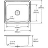 "Elkay DCR252210 Stainless Steel, 25"" x 22"" x 10-1/4"", Single Bowl Drop-in Laundry Sink"