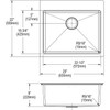 """Elkay ECTSR25229TBG Crosstown Stainless Steel, 25"""" x 22"""" x 9"""", Single Bowl Dual Mount Sink Kit"""