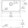 "Elkay ELUH281612 Lustertone Classic Stainless Steel 30-1/2"" x 18-1/2"" x 11-1/2"", Single Bowl Undermount Sink"