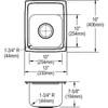 "Elkay LR1316 Lustertone Classic Stainless Steel, 13"" x 16"" x 7-5/8"", Single Bowl Top Mount Sink"