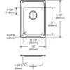 "Elkay LRAD1522-CU CuVerro Antimicrobial Copper 15"" x 22"", Single Bowl Drop-in ADA Sink, Depth Varies"