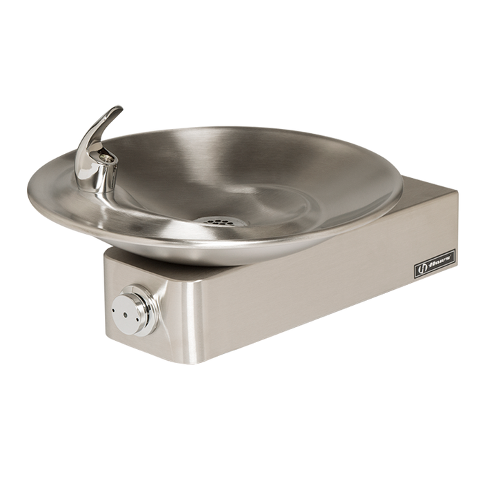 Haws 1001, Barrier-Free, Satin Finish Stainless Steel Drinking Fountain with a Sculpted Bowl, (Non-Refrigerated)