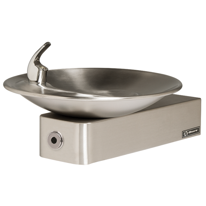 Haws 1001HO Touchless Drinking Fountain, Wall Mounted, ADA Compliant, Stainless Steel with Satin Finish, Non-Refrigerated