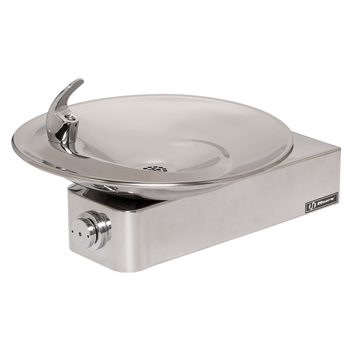 Haws 1001HPS, Barrier-Free, High Polished Stainless Steel Drinking Fountain with a Sculpted Bowl, (Non-Refrigerated)