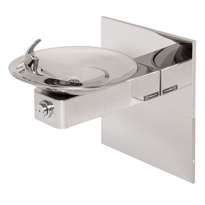 Haws 1001HPSMS, Barrier-Free, High Polished Stainless Steel Drinking Fountain with Sculpted Bowl, Access Panel and In-The-Wall Mounting System, (Non-Refrigerated)