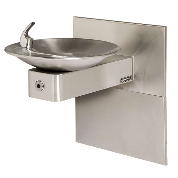 Haws 1001MSHO Touchless Drinking Fountain with Mounting System, Wall Mounted, ADA Compliant, Stainless Steel with Satin Finish, Non-Refrigerated